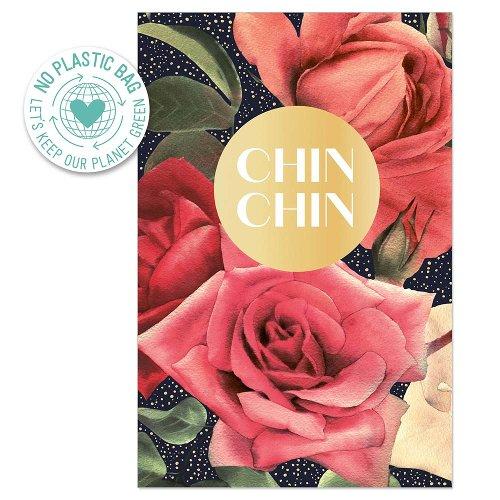 Greeting card roses chin chin