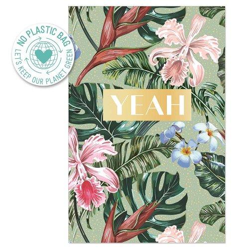 Grußkarte Dschungel Blüten Yeah