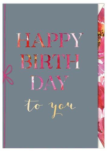 Birthday card Happy Birthday to you