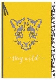 Grußkarte Spruch Stay wild