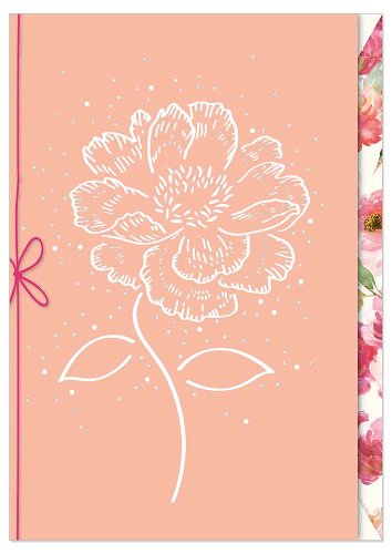 Grußkarte Blüte Schleife