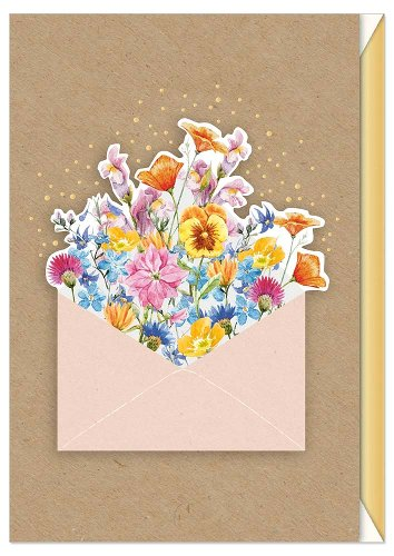 Greeting card flowers 3D
