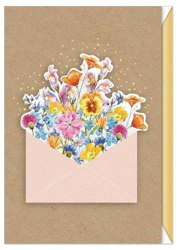 Grußkarte Blumen 3D