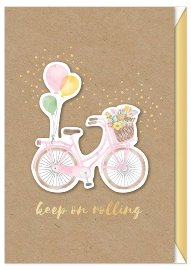 Birthday card bicycle 3D