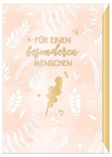 Geburtstagskarte Blätter Spruch Für einen besonderen Menschen