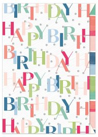 Birthday card Happy Birthday Dots