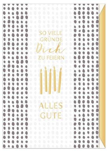 Geburtstagskarte Spruch So viele Gründe Dich zu feiern