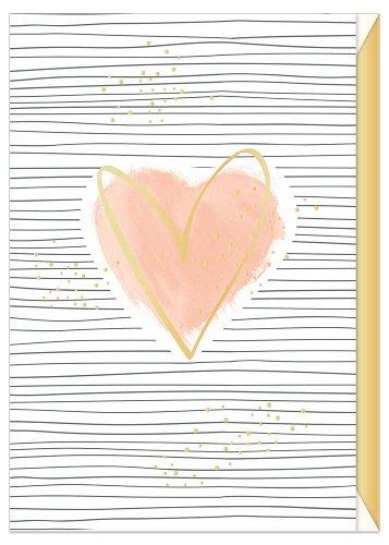 Greeting card watercolor heart