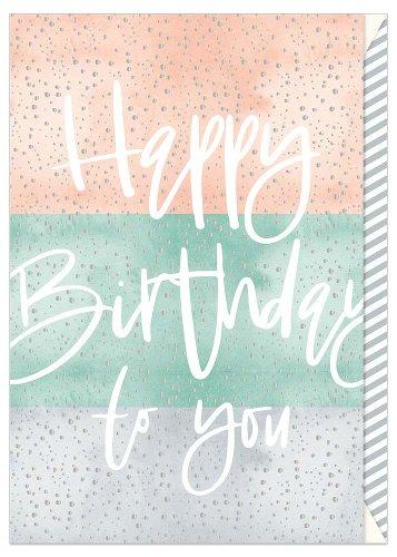 Birthday card stripes Happy Birthday
