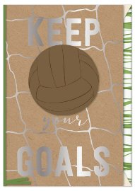 Grußkarte Spruch Keep your goals 3D
