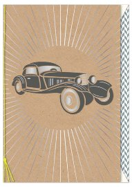 Greeting card oldtimer