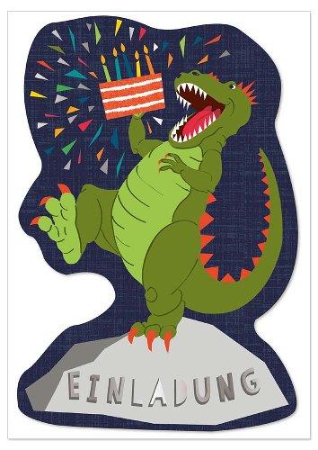 Invitation card T-Rex 6 pcs. Set