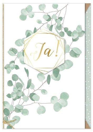 Wedding card eucalyptus