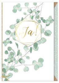 Wedding card eucalyptus