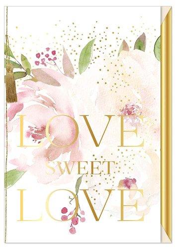 Hochzeitskarte Blüten Spruch Love sweet love