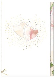 Wedding card hearts