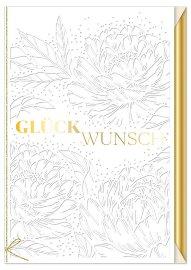 Hochzeitskarte Blüten Spruch Glückwunsch