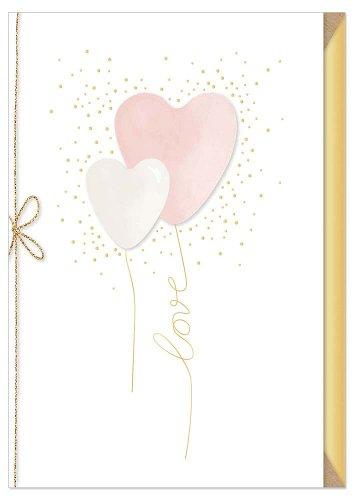 Wedding card heart balloon love