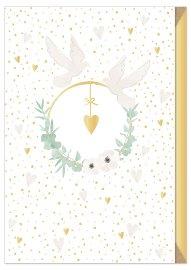 Hochzeitskarte Blütenkranz Boho