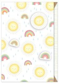 Card baby rainbow sun