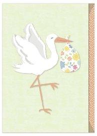 Karte Baby Storch