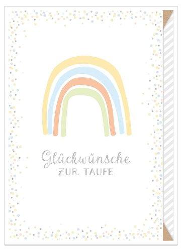 greeting card baptism rainbow