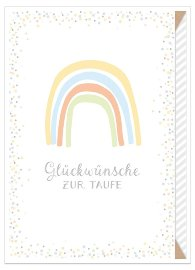 greeting card baptism rainbow