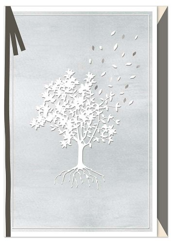 Mourning card tree bow