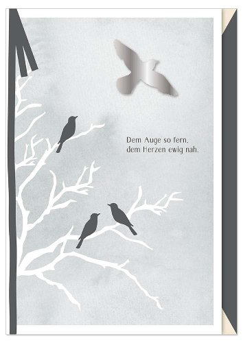 Mourning card bird bow 3D