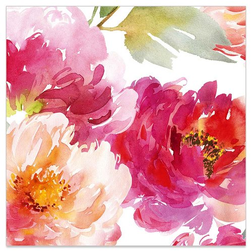Minikarte Aquarellblüte