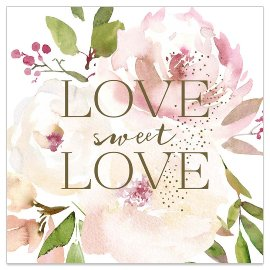 Minikarte Hochzeit Spruch Love sweet Love