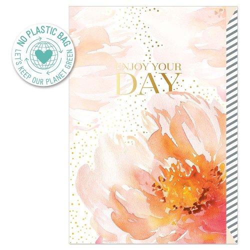 Geburtstagskarte Blüte Spruch Enjoy your day