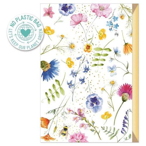Greeting card Flowering meadow