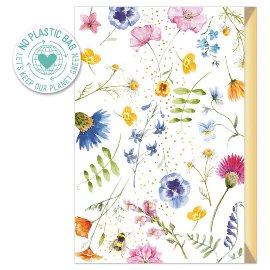 Greeting card Flowering meadow