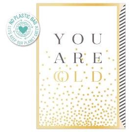 Grußkarte Spruch You are gold