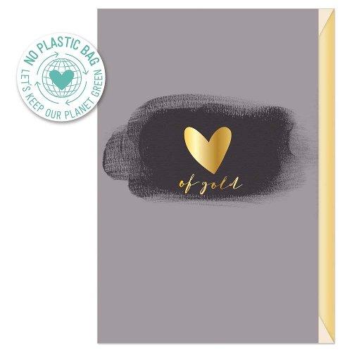 Grußkarte Spruch Heart of gold