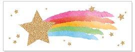 Karte Sternschnuppe Rainbow