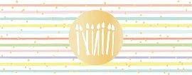 Geburtstagskarte DIN lang Kerzen