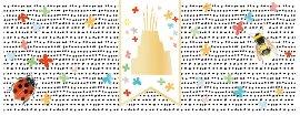 Geburtstagskarte DIN lang Torte