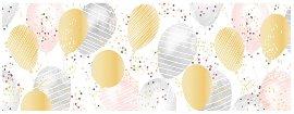 Grußkarte DIN lang Luftballons