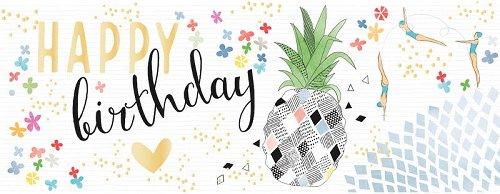 Karte Birthday Ananas