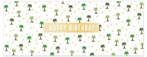 Geburtstagskarte DIN lang Palmen