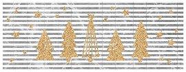 Weihnachtskarte Tannenbäume Marmor