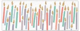 Geburtstagskarte DIN lang Kerzen Lentikular