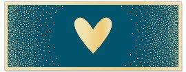Grußkarte DIN lang Pünktchen Herz