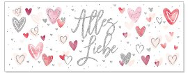 Grußkarte DIN lang Alles Liebe Herzen