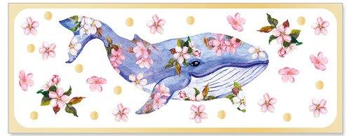 Grußkarte DIN lang Alles Gute Wal