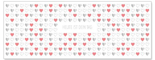Geburtstagskarte DIN lang Heute ist Dein Tag Herzen