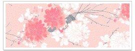 Grußkarte DIN lang Asia Blüten