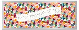 Geburtstagskarte DIN lang Konfetti